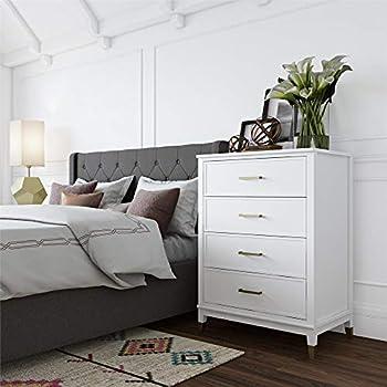 b614082c CosmoLiving by Cosmopolitan 3640013COM CosmoLiving Westerleigh 4 Drawer,  White Dresser