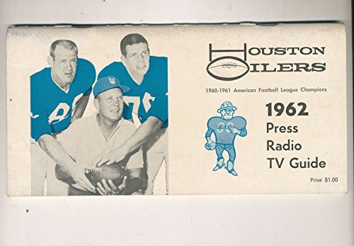 1962 Houston Oilers AFL press media guide em rare (1962 Oilers Houston)