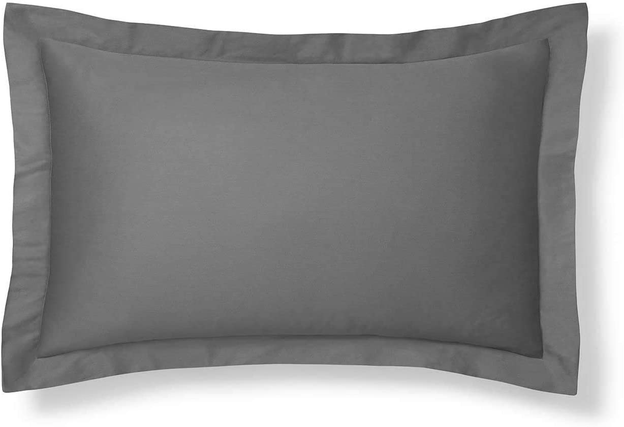 King Pillow Shams Set of 2 Dark Grey Pillow Shams King Size 20X40 Pillow Covers 100% Egyptian Cotton 600 Thread Count Hotel Class Bedding Cushion Cover Decorative King Size Bed Pillow Shams Set