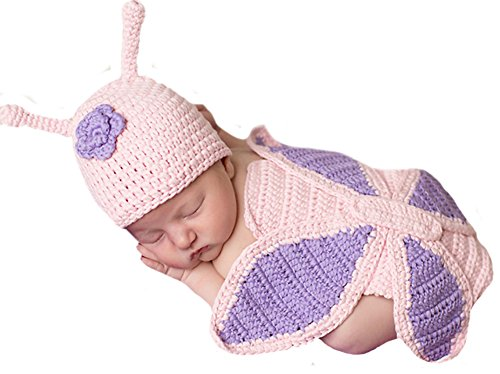 Melondipity's Baby Butterfly Hat and Matching Back SET - Newborn Girls Butterfly Set