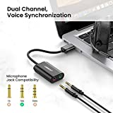 UGREEN USB Audio Adapter External Stereo Sound Card with 3.5mm Headphone and Microphone Jack for Windows, Mac, Linux, PC, Laptops, Desktops, PS5