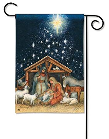 Amazoncom Magnet Works MAIL34012 Holy Night Garden Flag Patio