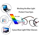 Cyxus Blue Light Filter Computer Glasses Vintage Retro Round for Blocking UV Minimize Headache Sleep Better Anti Eye Eyestrain Fashion Frame, Unisex (Men, Women) (Tea Brown)
