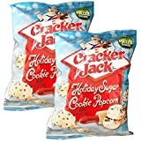 Cracker Jack Delicious Holiday Sugar Cookie Flavored Coated Popcorn 2 Pack 4 oz Each! Perfect for Snack!