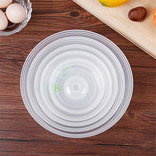 5Pcs /Set Silicone Pots Pan Lids Bowl Cup Cover Stretch Suction Kitchen Cooking Food Hopper Home Stopper Universal Cookware Xd (Universal Food Hopper)