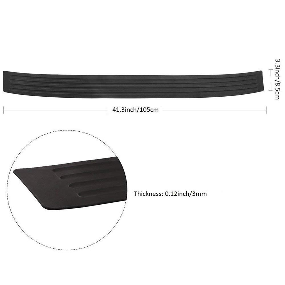 Sticker Guard For Car Pickup SUV Universal Car Rear Bumper Protector,Anti-Scratch Rubber Trim Cover 104cm Black