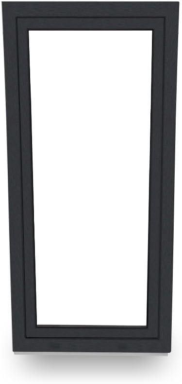 DIN Rechts Terrassent/ür Balkont/ür anthrazit 60 mm 100x170 cm 2-fach-Verglasung Classic Line
