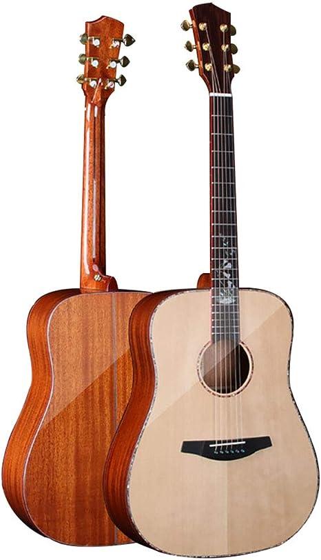 NUYI 41 Pulgadas De Caoba Todo Cadena Acústica Guitarra De Madera ...