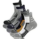 Men's Athletic Cotton Running Low Cut Ankle Socks,SoftPro Comfort Cushioned Sports Socks,4-Pack (Shoes Size 6-12)