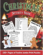 Jumbo-Print Christmas Activity Book for Ages 9 to 99: Easy Sudoku Puzzles, Trivia, Word Finds, Word Scrambles & Mazes