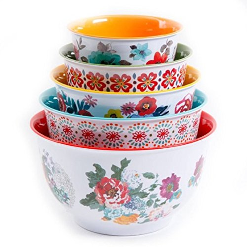 The Pioneer Woman Country Garden Nesting Mixing Bowl Set, 10-Piece, Multiple Patterns