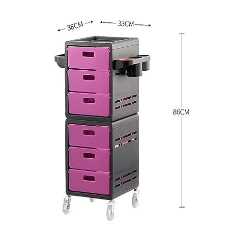 Amazon.com : MJHY Hairdressing Cart, Beauty Salon, Hair Salon, Bar Service Car, Purple : Beauty