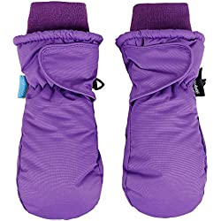 SimpliKids Girl's Snow Sports 3M Thinsulate Waterproof Winter Ski Mittens,M,Purple