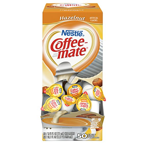 Coffee Mate Coffee Creamer, Hazelnut, 0.375oz liquid creamer singles, 50 count