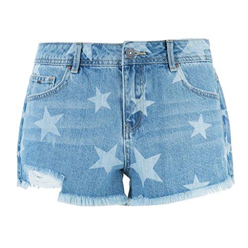 Holes denim Cotone blu Flash Donna Donna star caldi in Pantaloni Shorts tOqPxRwC