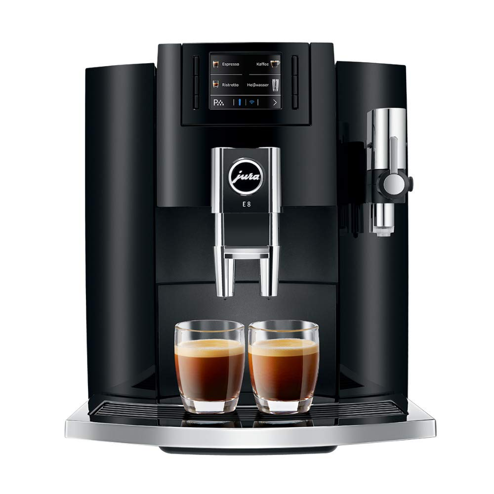 Jura E8 Automatic Coffee Machine 15270, Piano Black by Jura
