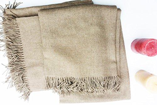 Sweet Dreams Home Luxurious Hypoallergenic 100% Peruvian Royal Alpaca Throw Blanket, Extra Single-Size (58