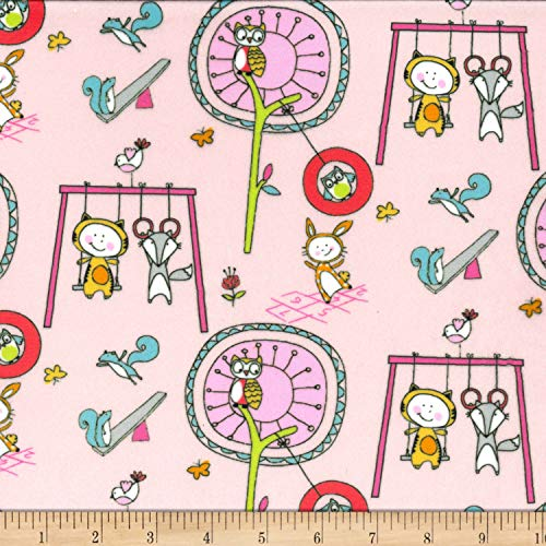 Michael Miller Minky Let's Play Playground Pals Fabric, Candy, Fabric By The Yard - Michael Miller Candy
