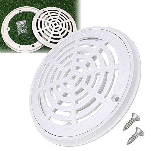 Oral Dentistry 8 Inch White Main Drain Cover Replacement Universal Round Swimming Pool