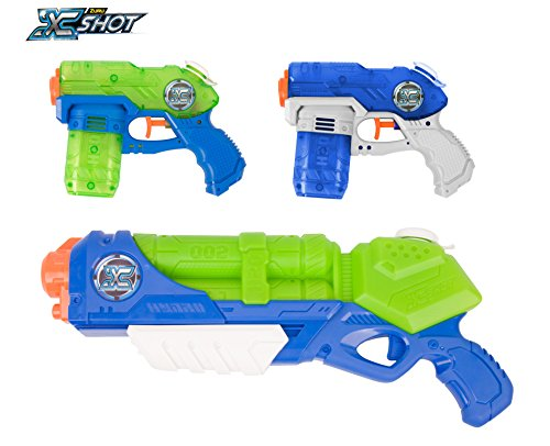 (Zuru X Shot Promo Pack Water Blaster Toy (Typhoon Thunder & 2 Small Stealth Soakers))
