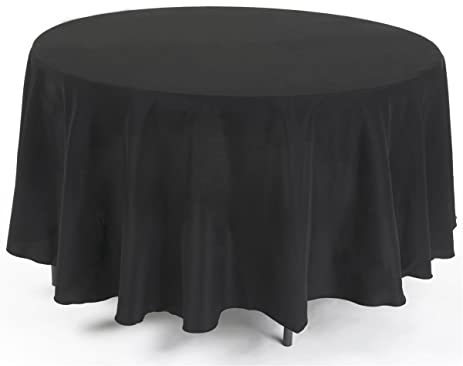 Table Cloths For 4 Or 5 Foot Round Tables, Choose From Black, Ivory