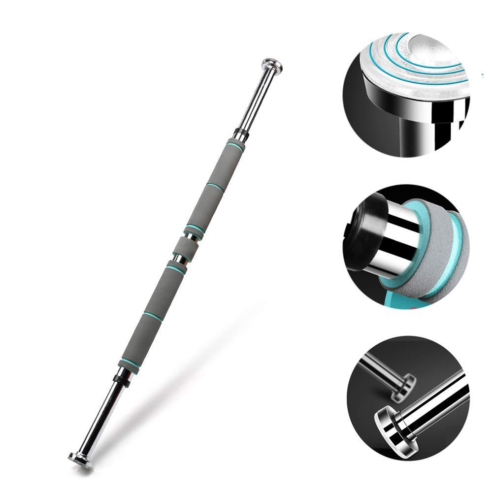 横の棒引き棒の引き上げ棒壁のドアの屋内練習のために適した携帯用調節可能な長さ,80to130cm   B07PLPSC4L
