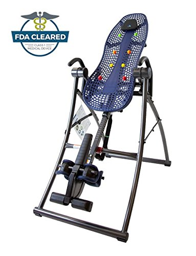 Teeter Contour L3 Inversion Table with Easy-to-Reach Ankle Lock, for Back Pain Relief, FDA-Registered, 3rd-Party Safety Certified, Precision Engineering