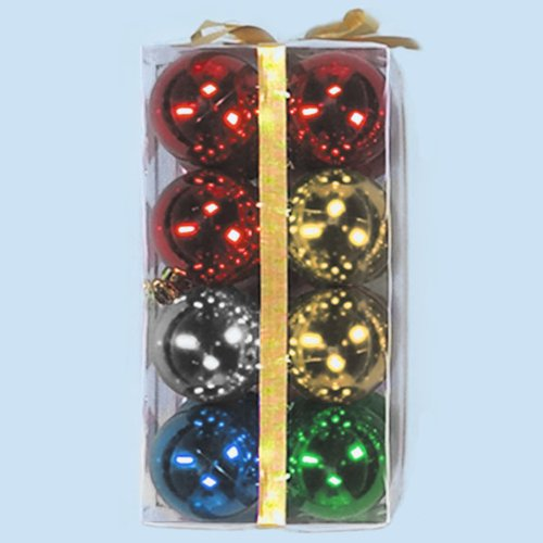 Dobar Holiday Essentials Shatterproof Ornament Balls - Size: 60mm - 16/Pack (Multi Color)