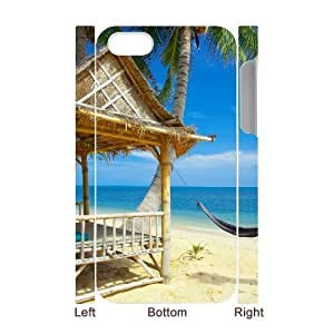 MMZ DIY PHONE CASEALICASE Diy 3D Protection Hard Case Island Beach For ipod touch 4 [Pattern-1]