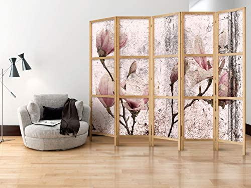 murando - Biombo XXL Flores Magnolia 225x171 cm - 5 Paneles ...