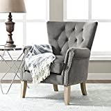 Better Homes and Gardens Rolled Arm Accent Chair, Multiple Colors (gray)
