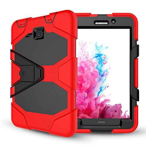 Samsung Galaxy Tab A 7.0 Case with Screen Protector,Jeccy Full-body Shock Proof Hybrid Heavy Duty Armor Defender Protective Case with Kickstand, Silicone Plastic Case for Samsung Tab A7 (SM-T280/T285) by Jeccy
