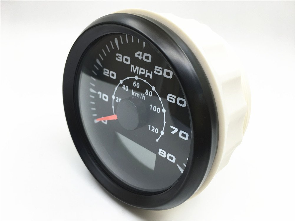 ELING Car Motorcycle Boat GPS Speedometer Odometer 0-80MPH 0-120KM/H ATV UTV with 8 Different Backlight 85mm by ELING