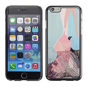 For Apple iPhone 6(4.7 inches) Case , Pink Ice Cream Painting Art - Diseño Patrón Teléfono Caso Cubierta Case Bumper Duro Protección Case Cover Funda