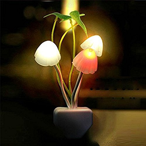 - Sensor Night Lights Plug-in LED Light,Turn on /off Dusk to Dawn,Color Changing Wall Lighting, 1 Pack