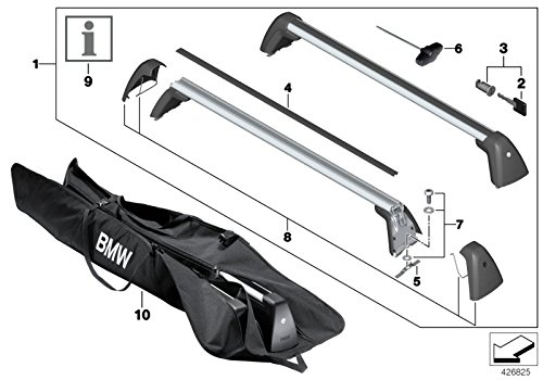 BMW Genuine Roof Rack Carrier Gutter Protector GEN2 1 2 3 4 7 Series 82792406019