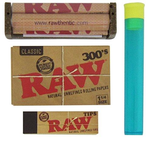 AW 1 1/4 300's, 79mm Roller, Raw Tips, BEAMER Doob Tube ()