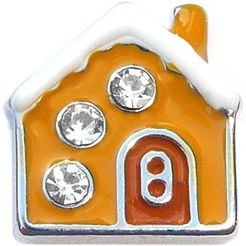 Gingerbread House Floating Locket Charm ()