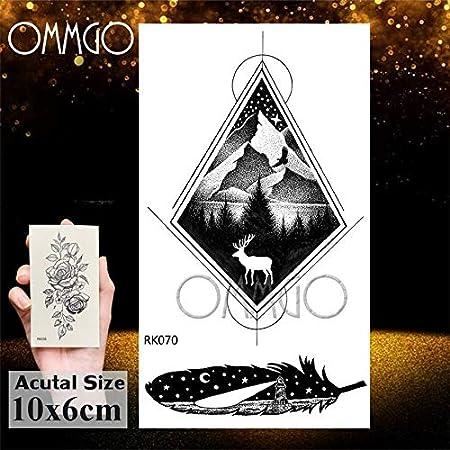 Yyoutop Diamante geométrico Lobo e Tatuajes para niños Animal ...