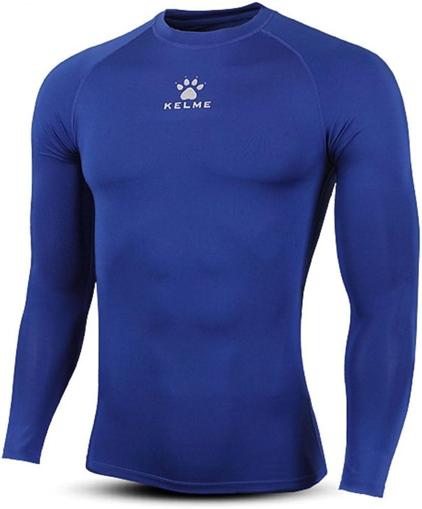 KELME Cool Dry Tight Compression Top, Men Long Sleeve Shirt Running Underlayer, Snowboarding Undershirt Colder Playing