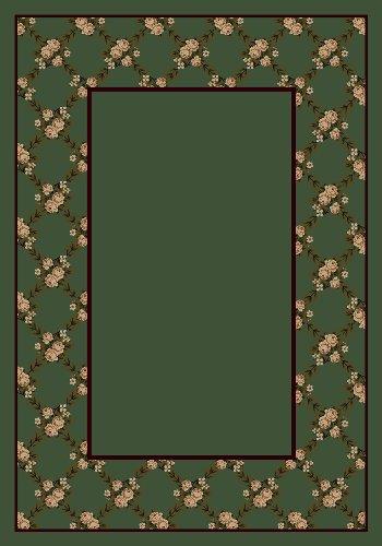 Milliken 8477/6306 Design Center Rose Bower Moss Rug Size: 3'10