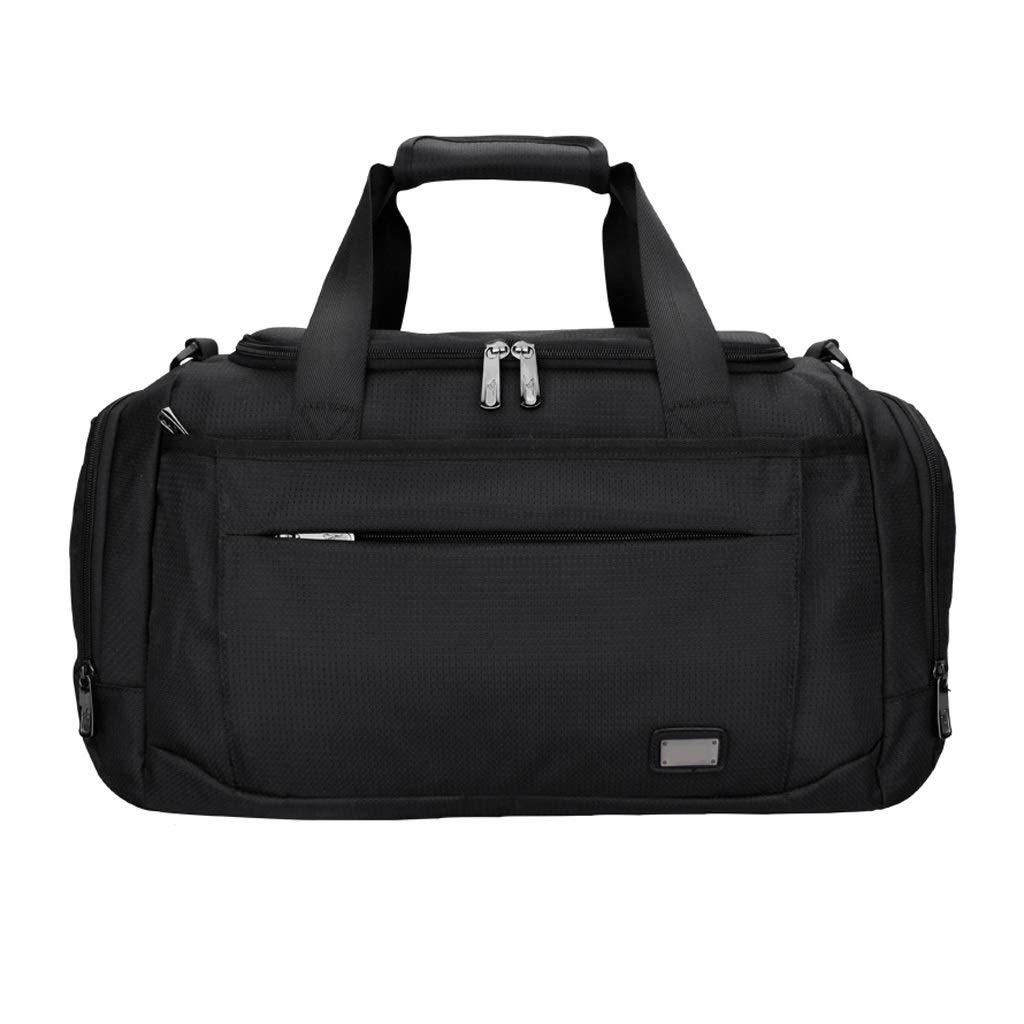 WANGXIAOLINYUNDONGBAO トラベルバッグ、ポータブル、マルチファンクション、フィットネスバッグ、短距離用バッグ、スポーツバッグ、ブラック,47*25*27cm B07P6QM281