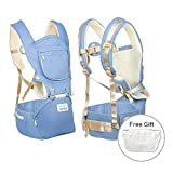 Mondeer Baby Carrier Hip Seat,Suitable for Any Season,Ergonomic Design for Infants,Cozy Seat and All-direction Safety Protection for Toddlers 3 – 36 Months,Best Choice for Babies Alone or Hike (blue)