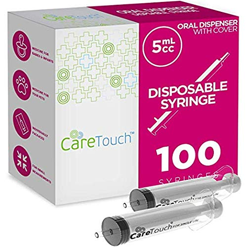 Jeringas De 5 ML Administración Oral Desechable Tipo Luer Sin Aguja,Care Touch by teeofspirit