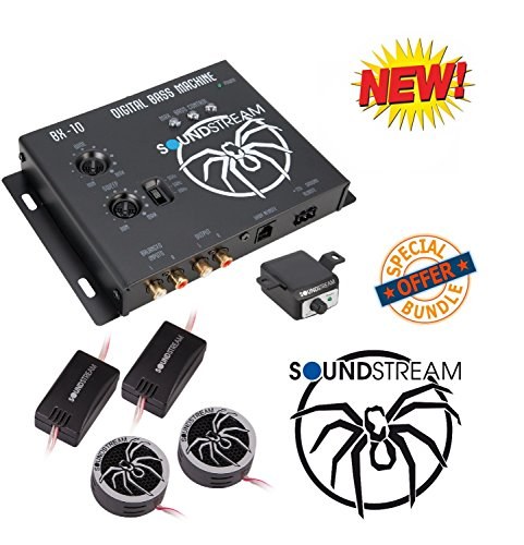 "Soundstream BX-10 Digital Bass Reconstruction Processor with Remote W/Soundstream TWT.5 1"" TWT Series PEI Dome Tweeters"