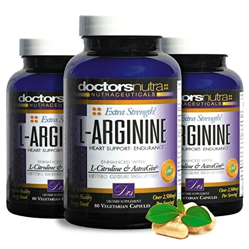 Time Released Vegetarian 250 Tabs (L-Arginine L-Citruline Extra Strength - Over 2,500 mg Value - (Pack of 3 Savings) - Nitric Oxide Booster - Plus Patented AstraGin for even Greater Absorption - By Doctors Nutra)
