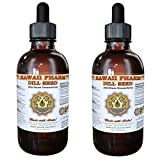 Dill Seed Liquid Extract, Organic Dill Seed (Anethum Graveolens) Tincture Supplement 2x4 oz