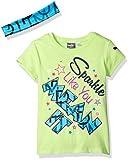 Best Kites For Kids - PUMA Big Girls' Tee with Headband, Kite Green Review