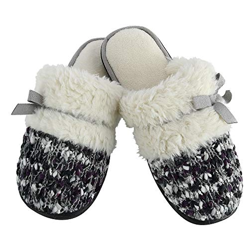 ISOTONER Chunky Grey Clog Amanda Heather Women's Slippers Knit Sweater q5qrf
