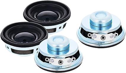 Fielect Magnet Speaker Internal Magnet Speaker Mini Speaker Metal Round 40mm Diameter 18mm Height 1W 4 Ohm 4Pcs